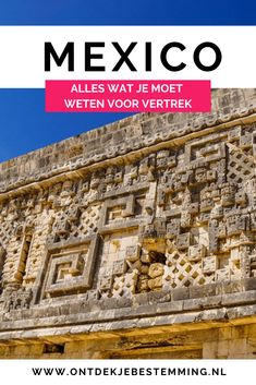 Op zoek naar een leuke reisroute voor Mexico? Check dit artikel met alle tips voor je reis, zoals de beste reisperiode, visum, auto huren en de veiligheid! #mexico #yucatan #reistips Central America, North America, Varadero Cuba, Ancient Civilizations, Mexico Travel, Cancun, World, Palenque, Guanajuato