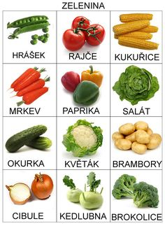 Just a few pictures/words for various vegetables and fruits.