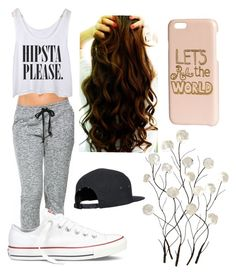 """""""Hip Hop Dance Class"""" by pandagirl2102 ❤ liked on Polyvore featuring Converse, Universal Lighting and Decor and H&M"""