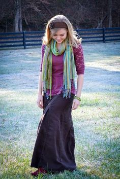 Fresh Modesty: Color  Another really cute style.