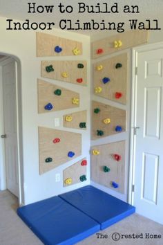 Playroom DIY climbing wall