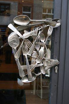 Cutlery door handle