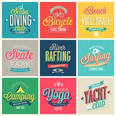 Summer sports set labels, emblems and other decorative elements. This is 100 vector collection.  Use it for cards, flyers or oth