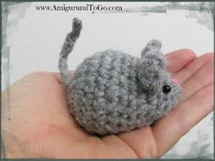 Amigurumi Mouse Free Pattern and Video ~ Amigurumi To Go totally cute + awesome video tutorial! great for cat toys too if onl i could  actually crotchet :)