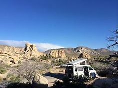 VW Eurovan Camping in Joshua Tree, CA Eurovan Camper, Camping Accessories, Wander, Adventure, World, Campers, Vw, Silver Bullet, Shopping