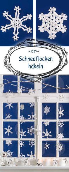 If you can not wait for the snow, the snowflakes crochet . Wer nicht auf den Schnee warten kann, der häkelt sich die Schneeflocken eben… If you can not wait for the snow, the snowflakes crochet … Baby Knitting Patterns, Afghan Crochet Patterns, Scarf Patterns, Baby Patterns, Christmas Scarf, Christmas Baby, Christmas Crafts, Crochet Christmas, Crochet Snowflakes