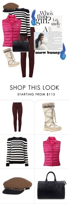 """""""Snow bunny chic"""" by cheetakat12 on Polyvore featuring J Brand, Timberland, Yves Saint Laurent, Moncler, Eugenia Kim, Louis Vuitton and snowbunny"""