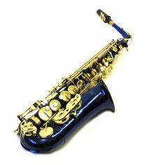 Blue and Gold Alto Saxophone Sax