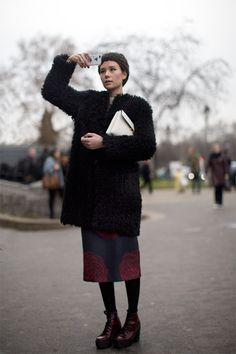 Monday, February 3, 2014 On the Street…..Grand Palais, Paris The Sartorialist