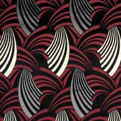 Art deco fabric option for recovering some dining room chairs. Fabric Patterns, Textures Patterns, Print Patterns, Art Deco Furniture, Furniture Redo, Art Deco Chair, Refurbished Furniture, Farmhouse Furniture, Furniture Layout