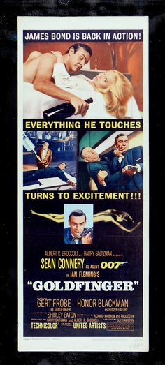 """Goldfinger"" (1964) / Director: Guy Hamilton / Writers: Richard Maibaum (screenplay), Paul Dehn (screenplay), / Stars: Sean Connery, Honor Blackman, Gert Fröbe #poster"