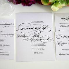 Marriage Wedding Invitation Suite, Deposit to Get Started