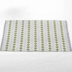 "Wave Bath Mat Coyuchi Size: 24"" H x 36"" W, Color: Grey with White-Green Tea  $60"
