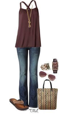 A fashion look from March 2013 featuring Hudson Jeans jeans, Clarks flip flops y Scotch & Soda tote bags. Browse and shop related looks. Casual Outfits, Cute Outfits, Fashion Outfits, Fashion Trends, Casual Dressy, Spring Summer Fashion, Spring Outfits, Fashion Moda, Womens Fashion