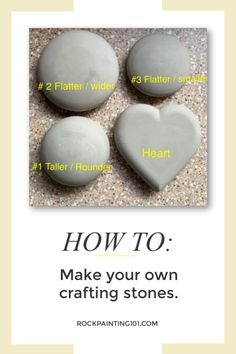 How to make rocks for painting - Rock Painting 101