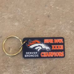 Cool item: Denver Broncos S.B. XXXII Keychain Denver Broncos Womens, Denver Broncos Super Bowl, Cool Items, Football, Soccer, Futbol, American Football, Soccer Ball