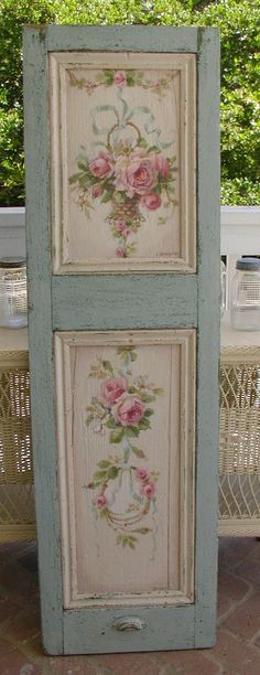Stand Alone! Blue Vintage Door Florals Home Decor Trends Furniture Accessories