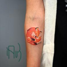 thINK Inspiration — New one fox and pup. #fox #foxtattoo #leshalauz...