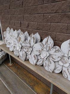 Wooden Flowers, Large Flowers, Recycled Wood, Repurposed, Shops, Hanging Flower Wall, Flower Nursery, Barn Wood, Pallet Wood