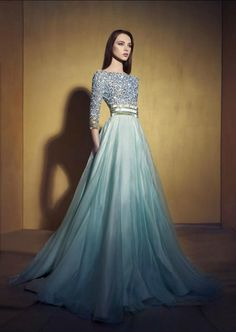 Best Quality Sequined Evening Dress With Long Sleeves Beaded Party Long Evening  Gowns Labourjoisie Pleated Pageant Women Wear Dresses Evening Dress Sewing  ... 320cc110d333