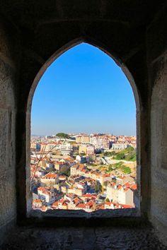 Lisboa vista do Castelo de São Jorge. http://fuievouvoltar.com