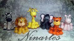 São 6 peças Leão,zabra,girafa,hipopótamo,elefante,tigre se quiser mais animais entre em contato para informar qual e será acrescentado mais valor as peças R$:15,00 cada peça a mais.