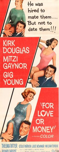For Love or Money (1963) #14x36 #1960s #1963