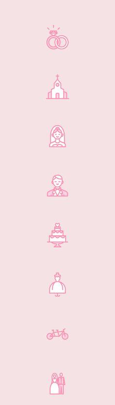 Love & Wedding icon set on Behance