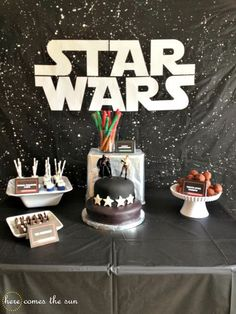 Star Wars Birthday Party Ideas Including This Cool DIY Galaxy Backdrop