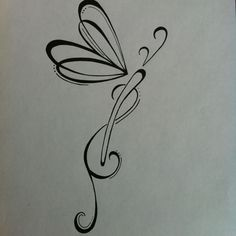 white or pink? Original dragonfly #tattoo design. Black and white ink. 5x3 inches