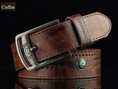 Guizue | Men Pin Buckle Designer Belt