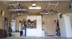 what is the best storage for a bike to hang from the ceiling - Google Search