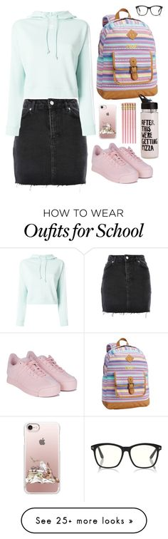 """""""Untitled #1579"""" by shemomjojo on Polyvore featuring Topshop, adidas, PBteen, ban.do and Casetify"""