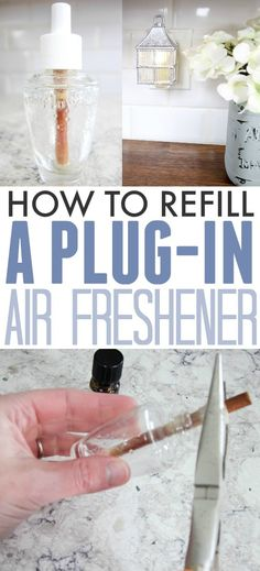 Did you know that you can refill a plug-in air freshener so you can keep using the same one over and over again? It's easy, economical, and you can even make it completely safe and non-toxic as well! Can't beat that!