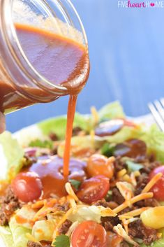 12 Addictive Salad Dressing Recipes To Make In Bulk Ensaladas French Salad Dressings, Salad Dressing Recipes, Salad Recipes, House Dressing Recipe, Best Salad Dressing, Cucumber Recipes, Spinach Recipes, Cucumber Salad, Catalina Salad Dressing