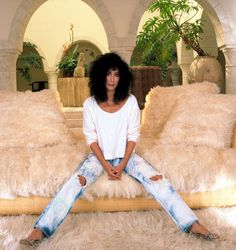 When were jeans invented, and how did they become a fashion staple? A look at the history of jeans, from OG Levis trousers, to sexy designer jeans. History Of Jeans, Her Style, Cool Style, Cher Photos, Cher Bono, Snap Out Of It, Iconic Dresses, Vintage Pictures, American Singers