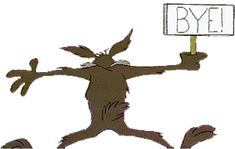 Animated gifs of Wile E. Coyote and Road Runner