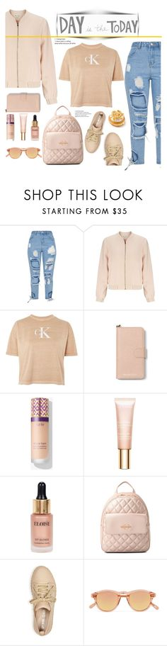 """im a cool girl..."" by omniaasaad ❤ liked on Polyvore featuring Miss Selfridge, Calvin Klein, MICHAEL Michael Kors, Clarins, Eloise, Love Moschino, Opening Ceremony and Chimi"