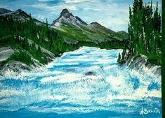 Portfolio Gallery for Al Budarin Impressionist Paintings, Rocky Mountains, Waterfalls, The Great Outdoors, Landscapes, Places To Visit, Waves, Display, Gallery