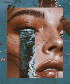 Collage by Denis Sheckler's, 'Ocean of Tears' via Saatchi Gallery – Art Photography Saatchi Gallery, Galerie Saatchi, Art Du Collage, Love Collage, Collage Artists, Pic Collage Ideas, Art Collages, Nature Collage, Collage Pictures