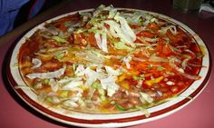 new mexico red and green chilie   enchiladas