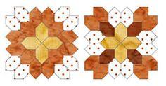 Hexagon Schablonen gratis - Hexagons Pentagons Dreiecke Quadrate etc drucken fürs