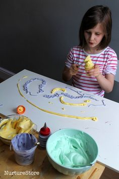 sensory play with paint