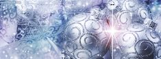 Silver Christmas Tree Ornaments Facebook Cover CoverLayout.com