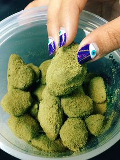 """piale: """" Buds with shatter melted on top, then dipped in kief. """""""