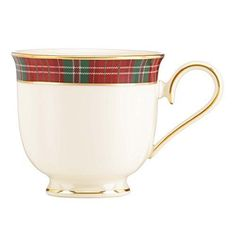 Lenox Winter Greetings Plaid Tea Cup, Ivory