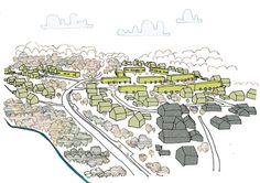 Ekeberg, Lier kommune - TAG Arkitekter: Nylig vedtatt detaljregulering (juni 2014)