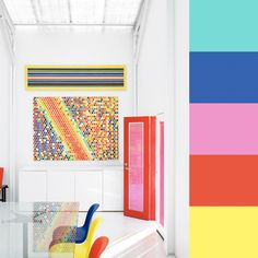 lucas allen's super colorful rooms come with a color swatch guide so you could do this yourself if you are brave, i love the inspriations