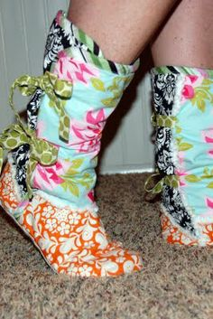 Slipper boots-- a must-have for our freezing tile floor in the winter