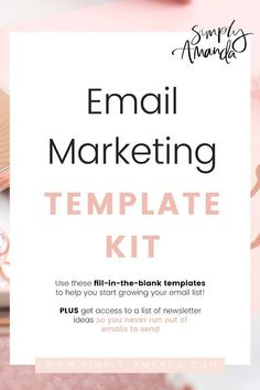 Struggling with what emails to send your subscribers? Struggling to create a welcome series you've heard you need to grow your list? Grab the Email Marketing Template Kit so you can fill in the blanks for your niche & create incredible welcome emails. Plus get a list of weekly newsletter ideas! #emailmarketing